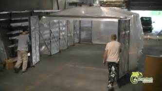 retractable paint booths dust collection enclosures by