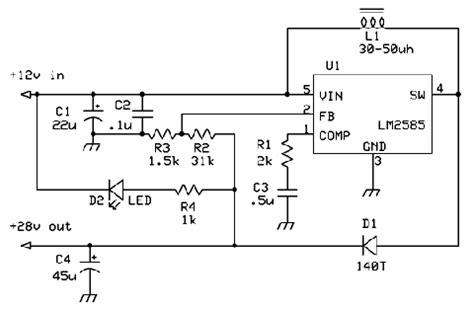 len zum dimmen mạch chuyển đổi từ 12v l 234 n 28 dc d 249 ng lm2585 cad