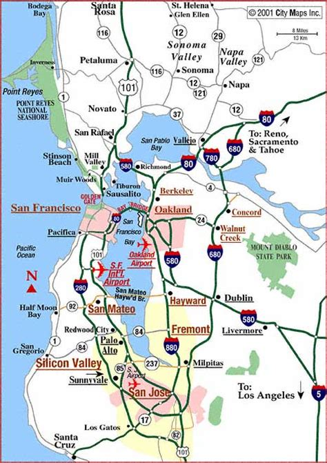 map of san francisco bay area greater san francisco map