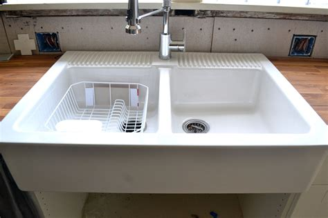 farmhouse sink with faucet holes farm sink with faucet holes