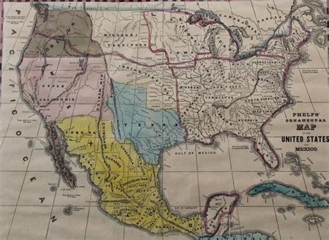 indian territory map united states antique 1847 phelp s map united states mexico