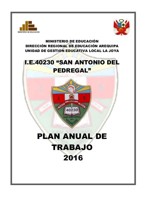 plan anual 2016 slidesharenet plan anual de trabajo 2016 40230