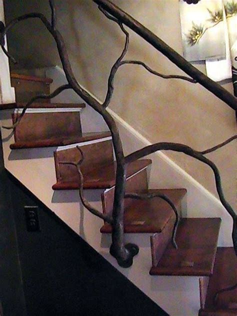 twisted tree branch railing house type thing pinterest