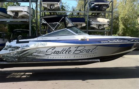 boat wraps wa boat wrap signs of seattle