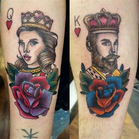 king and queen card tattoos 51 king and tattoos for couples page 2 of 5 stayglam