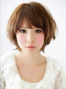 asian shape hairstyle korean cute short hair for round shape of face hairstyle