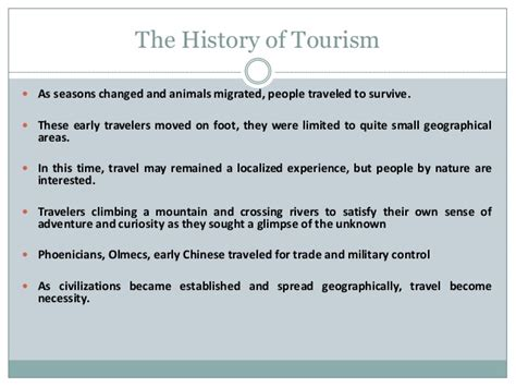 the history of the history of tourism