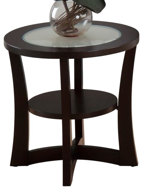 jofran 256 3 end table jofran 347 3 end table with shelf and frosted glass insert