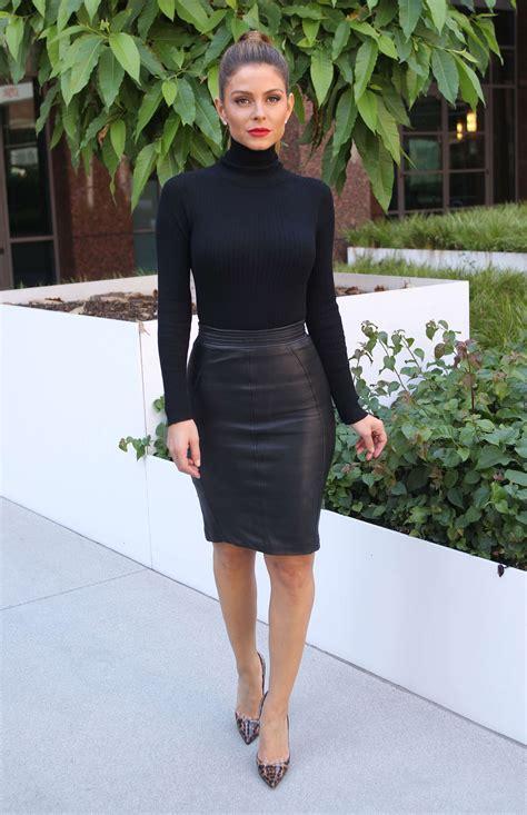 Maira Dress Cb menounos in a black leather skirt 12 gotceleb