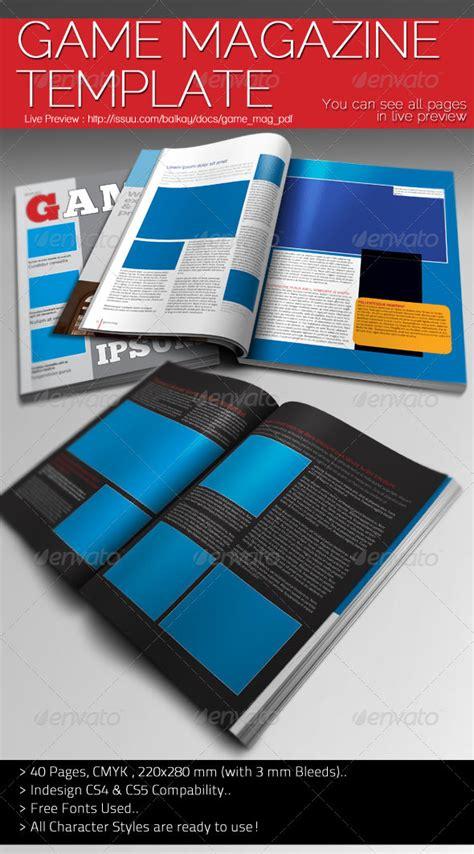 game design magazine game magazine template graphicriver
