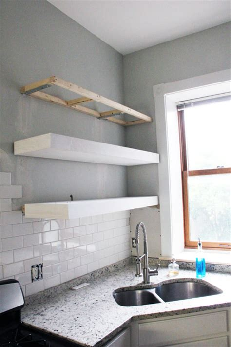 white bigger stronger kitchen floating shelves