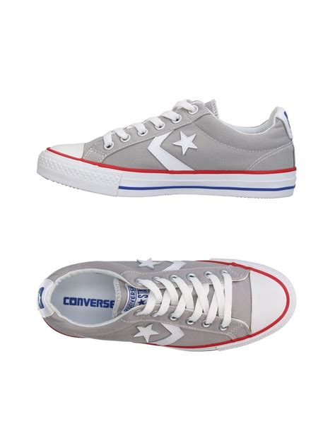 light grey converse low tops lyst converse low tops trainers in grey