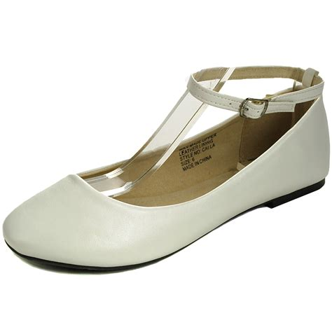 Flat Shoes Alroy 5 Beige White alpineswiss calla womens ballet flats ankle shoe