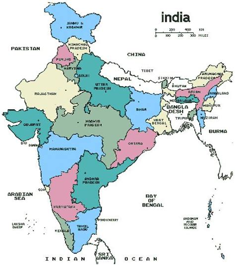 labeled outline map rivers homeschool geography map of india simple waldorf 5th grade