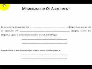 memorandum of agreement explained real estate investing