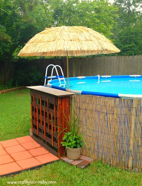 How To Decorate An Above Ground Pool by Crafty In Crosby Tiki Bar For The Swimming
