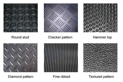 Car Floor Types by Six Types Of Patterns Are Available For Rubber Garage