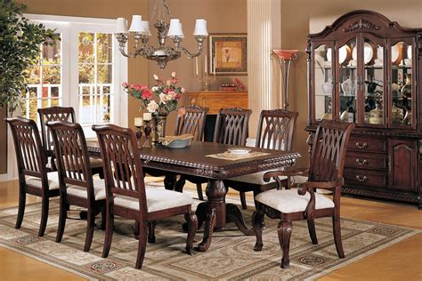 traditional dining room set perfect formal dining room sets for 8 homesfeed