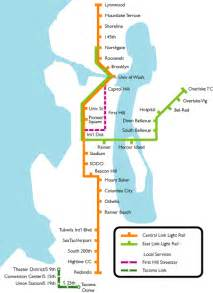 Seattle Light Rail Map by Seattle Metro Map