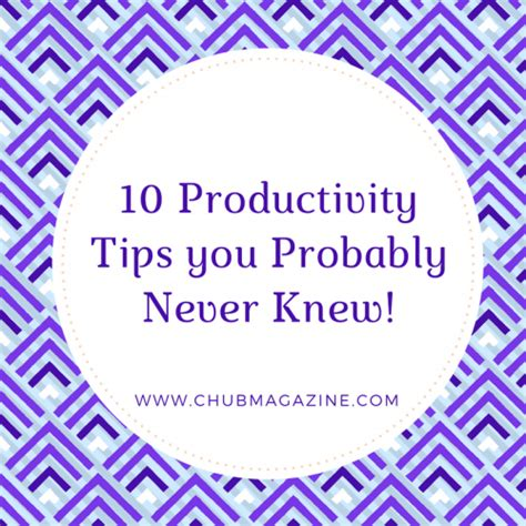 10 Unique Tips You Never Knew by C Hub Magazine Creativity Entertainment