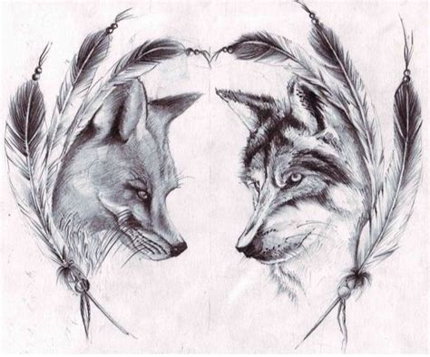 couple tattoo wolf destiny gt maybe this for our matching tats