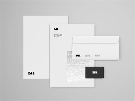business card branding template simple stationery mockup template