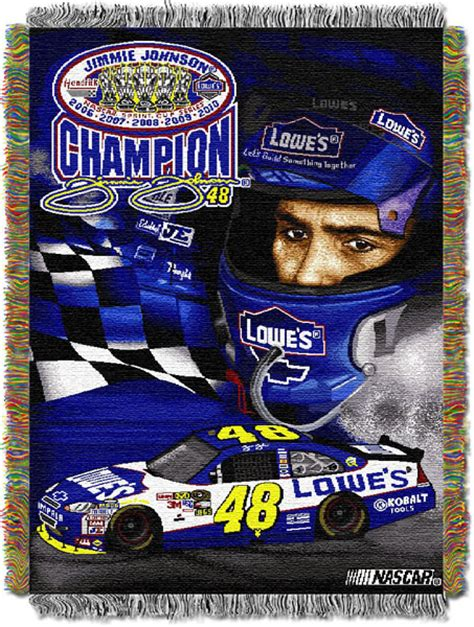 Jimmie Johnson Bedding Sets Nascar 2010 Jimmie Johnson 5x Chionship Tapestry Throw