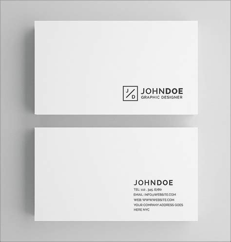 plain business card template for mac 30 simple minimal business card templates for 2018