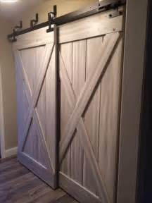 Barn Door Closet Hardware Bypass Sliding Barn Doors In Mudroom For The Home Barn Doors Bar And Design