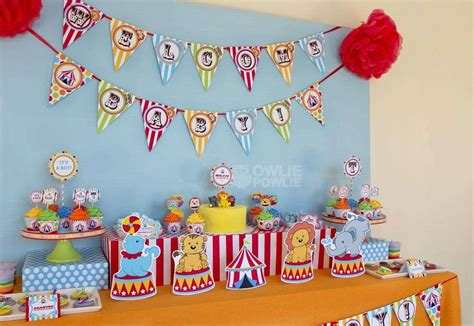 Popular Baby Shower Themes For Boys by Circus Carnival Baby Shower Ideas Photo 10 Of 24