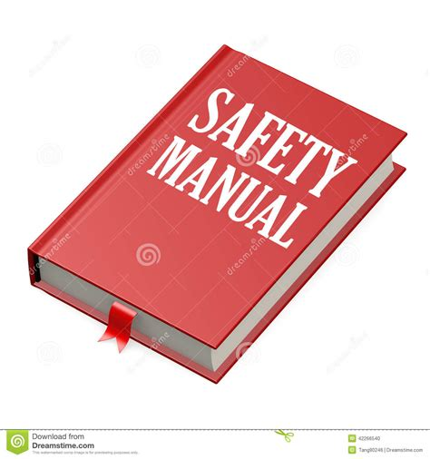 manual for books isolated book with safety manual stock illustration