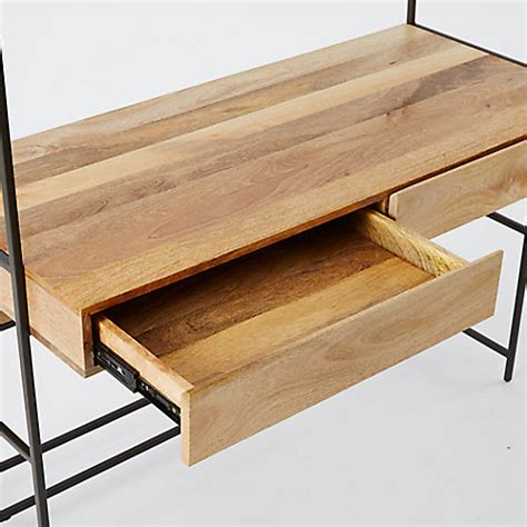 elm industrial desk buy elm industrial modular 49 quot desk lewis