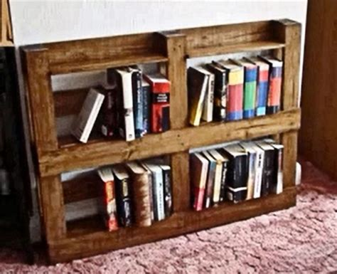 diy pallet bookshelves pallets designs