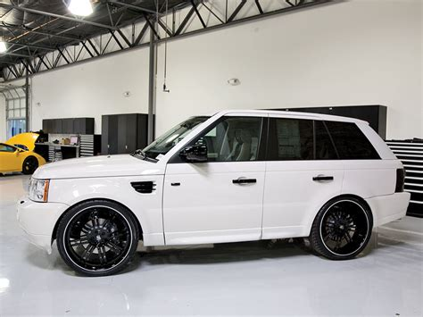 white land rover black rims 24 range rover sport sc breden forged co2 staggered lip