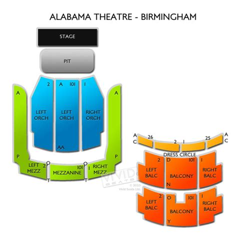 alabama theater seating chart myrtle alabama theatre birmingham seating chart seats