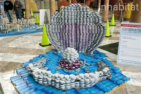 canned food sculpture ideas 13 awesome sculptures made from food cans at canstruction