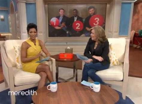 tamron hall plays dating game on meredith today watch meredith vieira tries to find a date for tamron