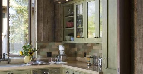 a rustic wine country retreat painted wood cabinets contrast with reclaimed fir while handmade a rustic wine country retreat painted wood cabinets