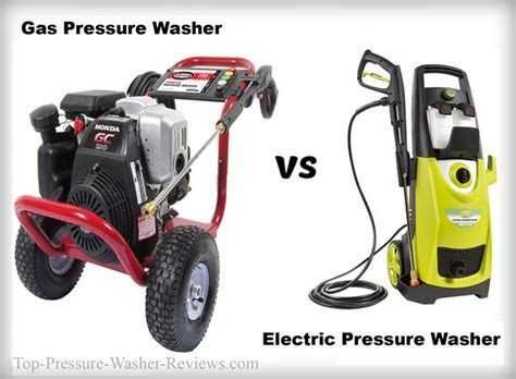 electric vs gas pressure washer devices which one is best