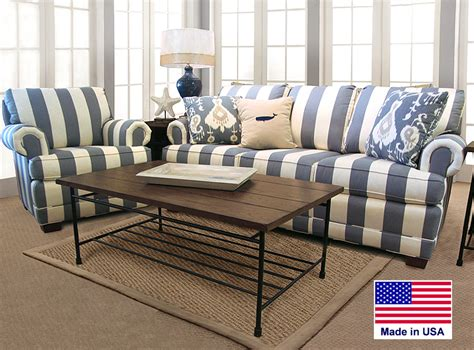 blue and white sofa blue and white striped sofa barbos furniture