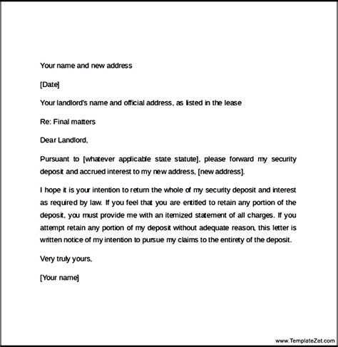 60 day notice letter for landlord templatezet