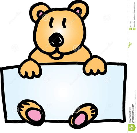 teddy bear name badge royalty free stock photography