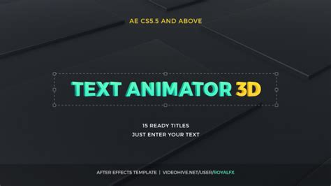 3d text template after effects text animator 03 3d corporate titles after effects