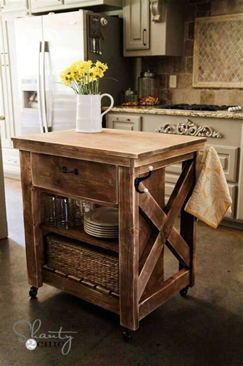 Homemade Kitchen Island Plans | 32 simple rustic homemade kitchen islands amazing diy