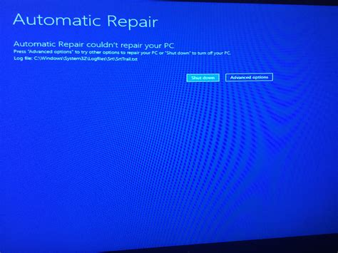 windows  automatic repair loop microsoft community