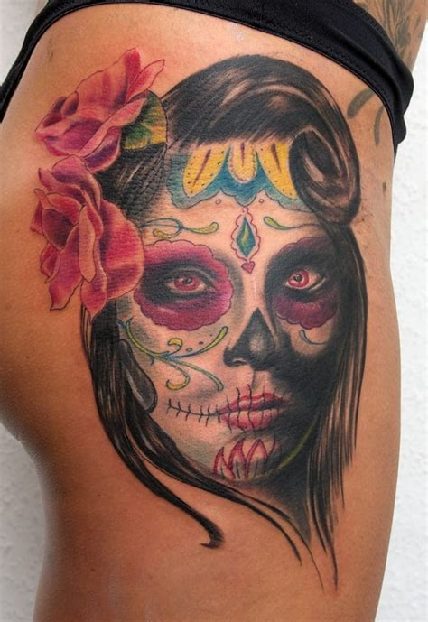 day of the dead face tattoos traditional day of the dead design creativefan