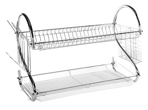 2 Tier Dish Rack Stainless Steel by 2 Tier Stainless Steel Dish Rack Space Saver Dish