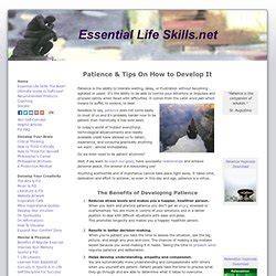 Tips On Patiently by Practical Self Improvement Pearltrees