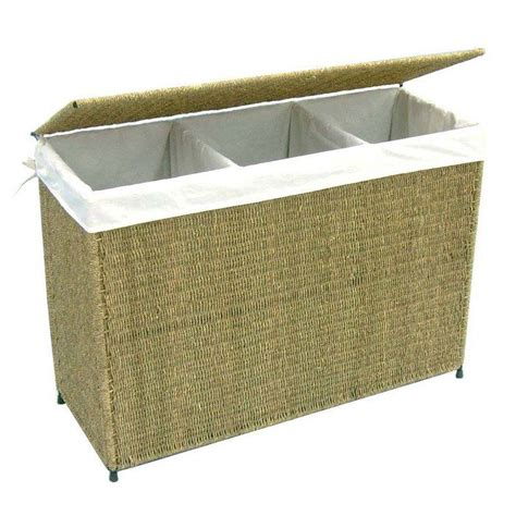 laundry basket with 3 sections 3 section her ideal choice for a flexible and stylish