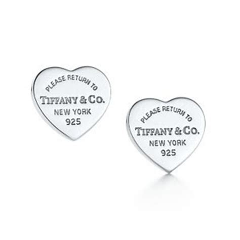 Pink ing of you: Return to Tiffany? mini heart tag earrings in sterling silver